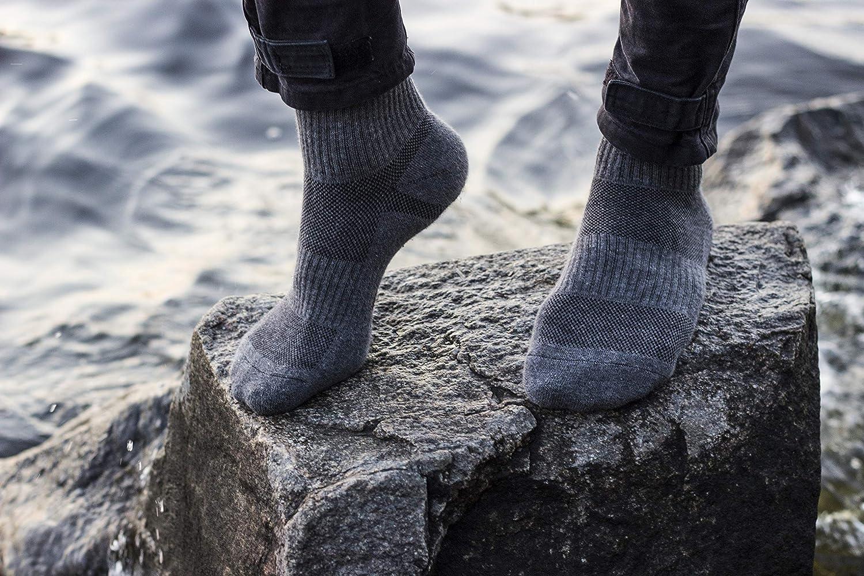 281Z Tactical Quarter Crew Boot Socks Dark Grey Outdoor Athletic Sport Hiking Trekking Military