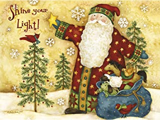Lang Shine Classic Christmas Card by Debi Hron, 4.25 x 6 inches,  12 Cards and 13 Envelopes  (2004027)