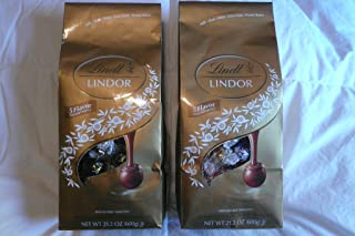 Lindt Lindor 5 Flavor Assortment Irresistible Assorted Smooth Chocolate Truffles 21.2 oz (Pack of 2)