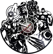 Iskra Shop Avengers Marvel - Vinyl Record Wall Clock - Comics - Get Unique Living Room Wall Decor - Gift Ideas for Friends, Teens, Children, Men and Women, Boys and Girls - Comics Books Films
