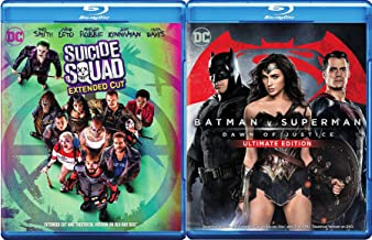 DC Cinematic Universe 2-Movie Bundle - Batman v Superman: Dawn of Justice (Ultimate Edition Extended Cut) & Suicide Squad (Extended Cut DVD + Blu-ray + Digital + Ultraviolet) Blu-ray Set