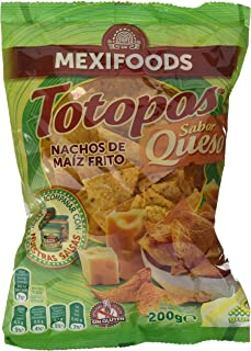 comprar comparacion Mexifoods Totopos Queso Mexi - 5 Paquetes de 200 gr - Total: 1000 gr