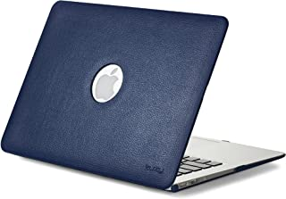 Kuzy - MacBook Air 13 inch Leather Hard Case for Older Version AIR 13-inch (A1466 & A1369) - Leatherette Cover - Blue