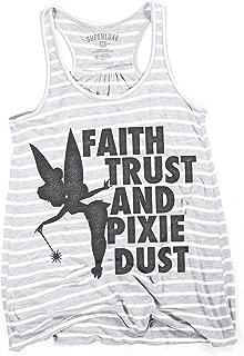 Womens Faith Trust Pixie Dust Tinkerbell Racerback Tank Top