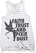Superluxe Clothing Womens Faith Trust Pixie Dust Tinkerbell Racerback Tank Top