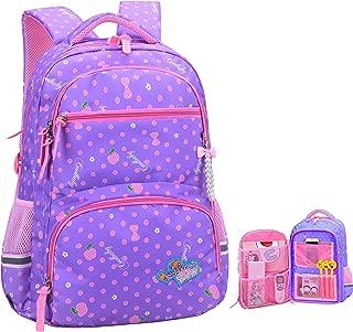 Girls Backpacks for Elementary, Polk Dots School Bag for Kids Primary Bookbags