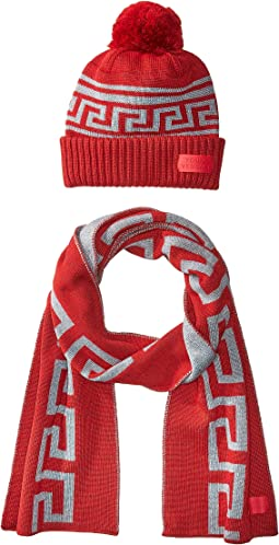 Versace Kids - Greca Hat & Scarf Set (Big Kids)