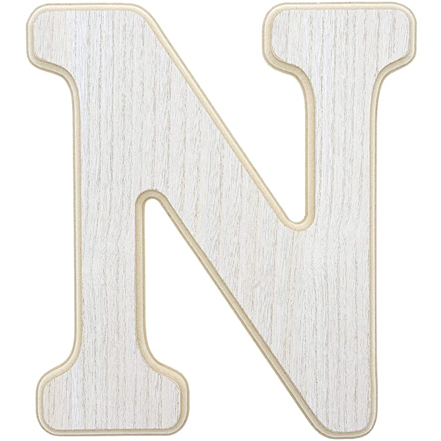 Unfinished Wood Letter N Cutout for DIY Painting, Crafts, and Wall Decor, 10.5 x .5 x 12 Inches