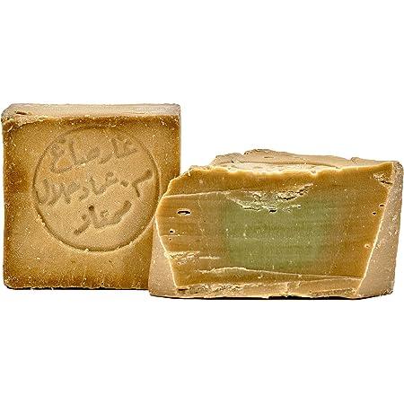 Jabón Aleppo, 2 x 190g, 80% aceite de oliva, 20% aceite de ...