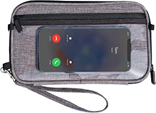 EAZYMATE Passport Holder Purse Organizer – Family Travel Wallet – RFID Card Holder with Phone Touchscreen Pocket - Airplan...