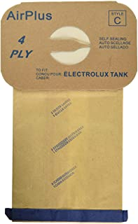 EnviroCare Style C 48 Electrolux Type C Tank Model Vacuum Cleaner Bags 4 Ply, tan