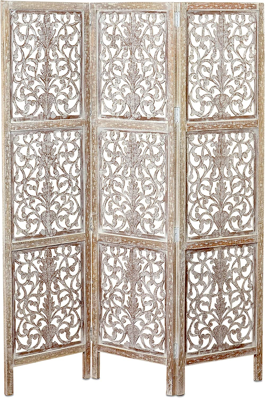 Key West ! Super beauty product restock quality top! Screen Room Divider Carved Motifs V Under blast sales 3 Panels Floral