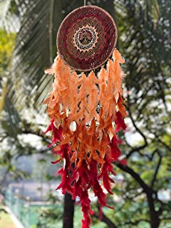 Rooh Dream Catcher ~ Large Maroon Healing Tree Wall Hanging ~ Handmade Hangings for Positivity (Can be Used as Home DÃcor ...