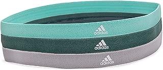 Adidas Sports Hair Bands - Grey, Green, Mint (3 Pack)