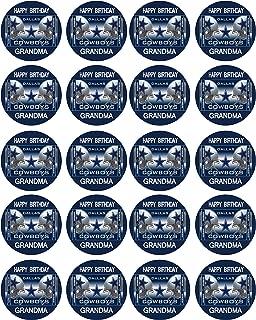 Dallas Cowboys (Nr2) - Edible Cupcake Toppers - 1.8