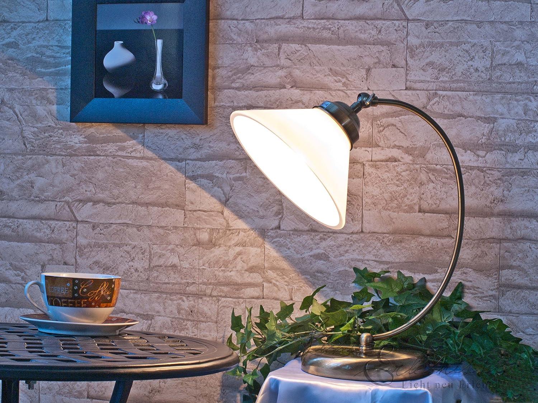 Tischleuchte im Jugendstil E27 Fassung 230V in bronze antik mit Schalter Tischlampe B002MTDNBA   Ausgezeichnet (in) Qualität