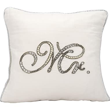 Kathy Ireland Worldwide Kathy Ireland E6316 White Decorative Pillow by Nourison, 14  X 14