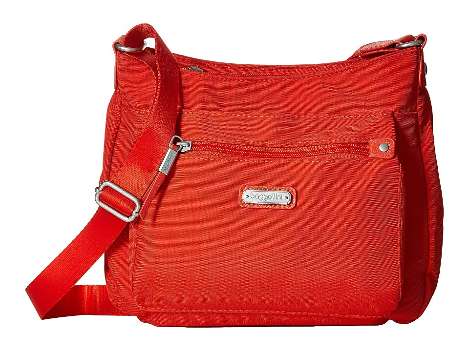 Baggallini New Classic Uptown Bagg with RFID Phone Wristlet (Vibrant Poppy) Bags