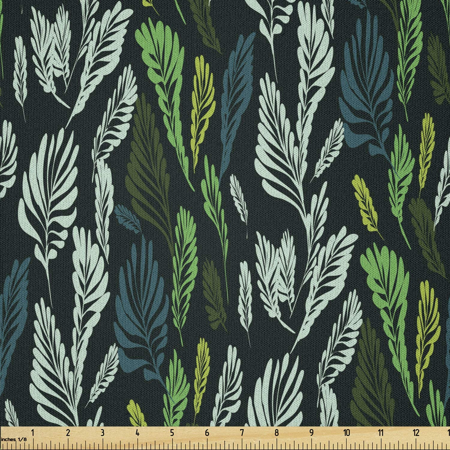 Ambesonne Ranking TOP19 Botanical Fabric by Baltimore Mall Theme Tropical Yard The
