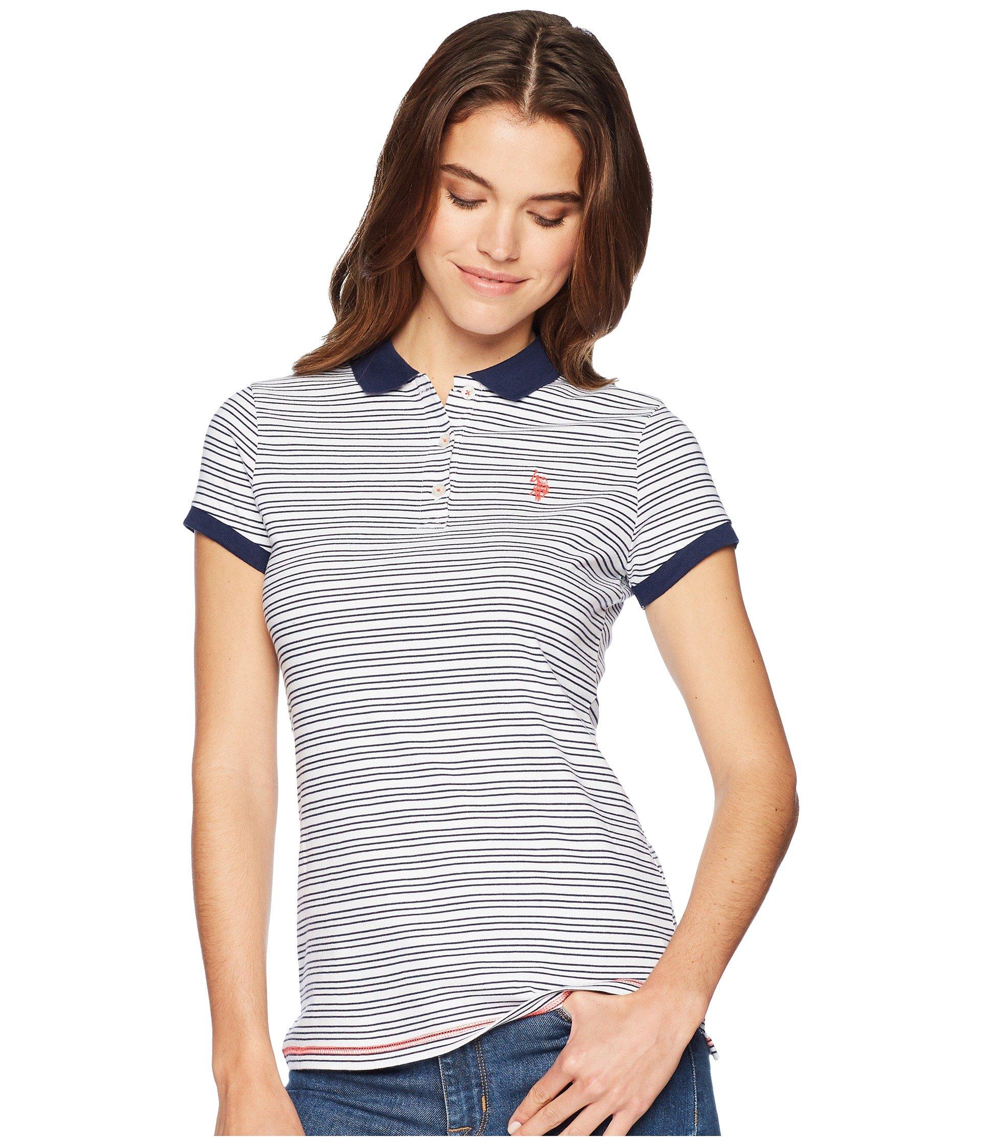 Camiseta Tipo Polo para Mujer U.S. POLO ASSN. Yarn-Dye OPP Polo  + U.S. POLO ASSN. en VeoyCompro.net