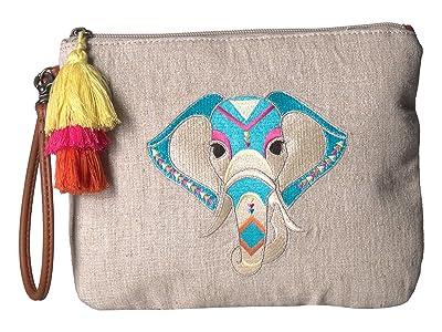 Sakroots Artist Circle Ariel Zip Pouch (Aqua One World) Tote Handbags
