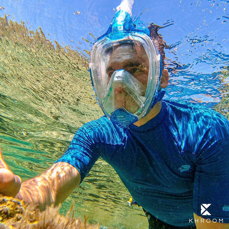 Tauchmaske f/ür Erwachsene und Kinder. Khroom/® Von DEKRA/® gepr/üfte CO2 sichere Schnorchelmaske Vollmaske bekannt aus YouTube Seaview X
