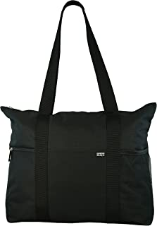 Shoulder Tote with Multiple Pockets and Zipper Closure