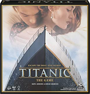 Spin Master Games The Titanic Movie, Strategy Party Game, for Adults and Kids Ages 12 and up (6059810)