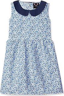 Smiling Bows Girls Sleeveless Printed Dress