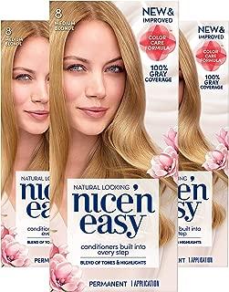 Clairol Nice'n Easy Permanent Hair Color, 8 Medium Blonde, Pack of 3