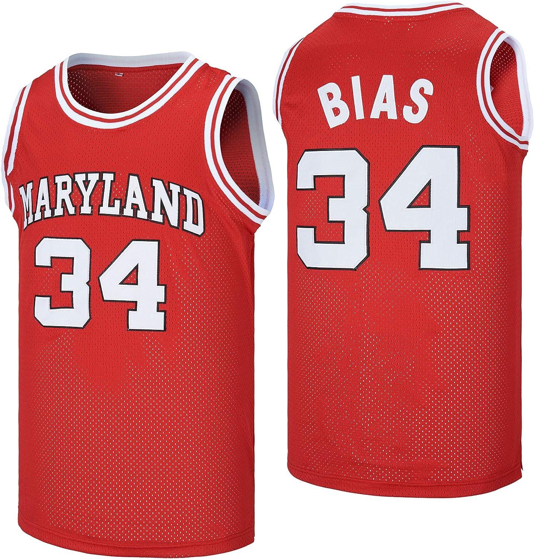 NA Men's Len 34 Bias Maryland Terrapins Movie Basketball Jersey Stitched