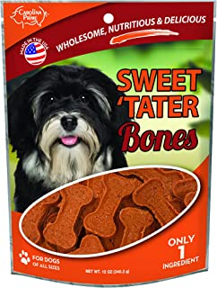 Carolina Prime Pet 45281 Sweet Tater Bone Treat for Dogs (1 Pouch), One Size