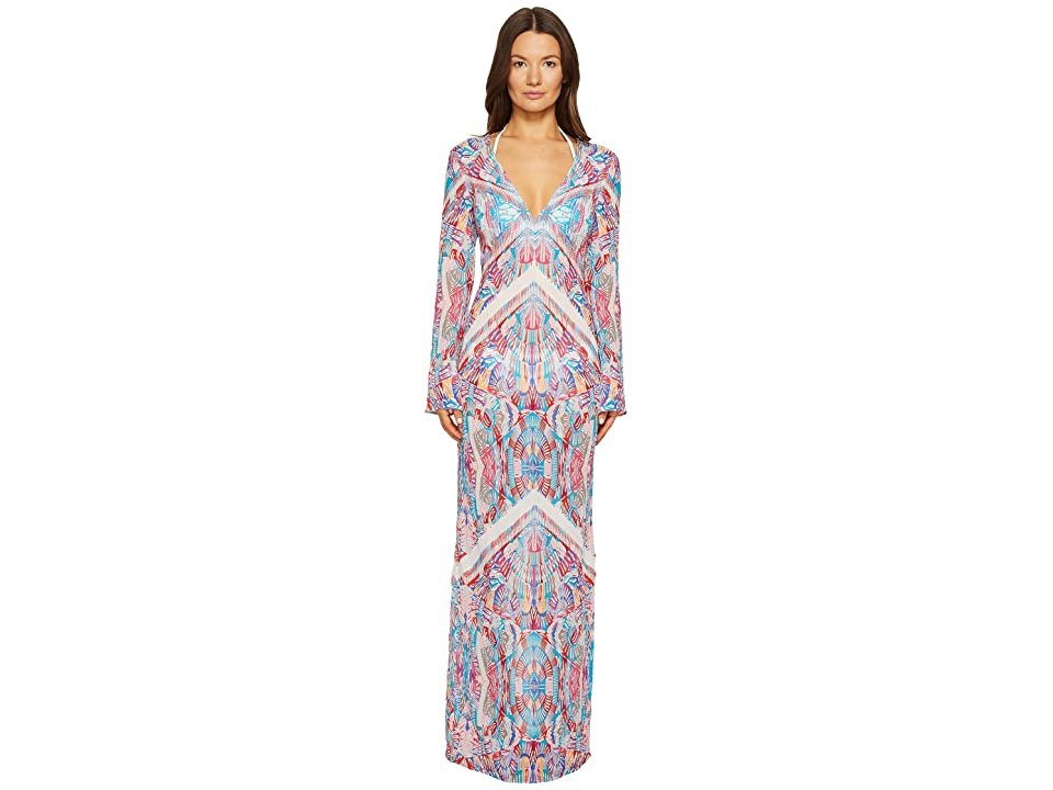 La Perla Free Spirit Long Sleeve Long Dress (Mosaic Print) Women