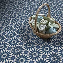 Moroccan Mosaic & Tile House CTP54-03 Alhambra Handmade Cement Tile, Navy Blue/White/Purple