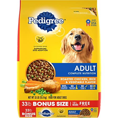Pedigree Adult Dry Dog Food, Chicken Flavor, All Bag Sizes