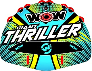 WOW Watersports Thriller Deck Tube Water Towable Tube Inflatable Boat Tube, Wild Wake Action - Water Sports Inflatables - Towable Tube for Boating