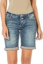 Sublevel Damen Jeans Bermuda-Shorts mit Denim Aufschlag
