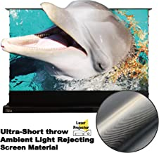 VIVIDSTORM Motorized Floor Rising Projection Screen for 4K Ultra Short Throw Laser Projector,100 inch Diag 16:9, Ultra-Short Throw Ambient Light Rejecting, Wireless Projector Trigger, VMDSTUST100H