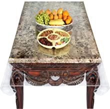 Super Clear Extra Heavy Duty, Durable 100% Vinyl Tablecloth protector & Table cover Size 70 X 90 Inches Oblong