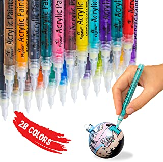 Acrylic Paint Marker Pens Gift Water Based Extra Fine Tip Markers for Rock Stone Painting Canvas Glass Ceramic Wood Metal ...