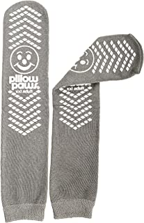 XXL Gray Double Tread Slip Stop Socks from Pillow Paws (Terrycloth) (4 Pairs)