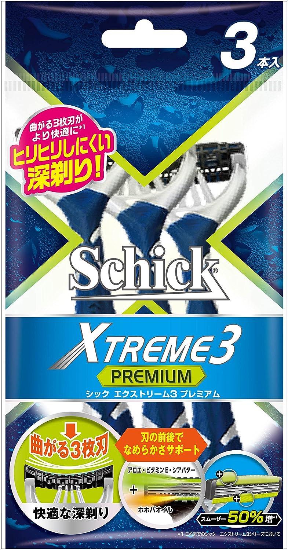 シック Schick エクストリーム3 3枚刃プレミアム (3本入)