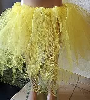 Seeglitzer Handmade Tüllrock Tutu Tütü Tanzrock gelb Biene Maja Kinderrock Mädchenrock Kostüm Verkleidung Fasching Karneval Fasnacht Kostüm Gr. 110/116