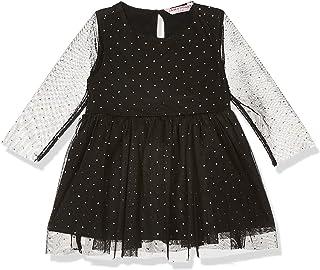 Amazon Brand - Jam & Honey Baby-Girl's Polyester Skater Knee-Long Dress (AVIPG-DR07_Black_12 Months-18 Months)
