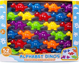 Boley 52 Piece Alphabet Dinosaurs - Educational Dinosaur Alphabet Matching Toy Set for Kids, Children, Toddlers - Great Learning Tool for Toddlers to Learn The Alphabet! Box Edition