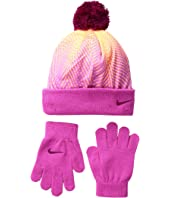 Nike Kids - Graphic Pom Beanie & Gloves Set (Little Kids)