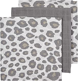 Meyco 452021 Musselin-Mull-Hydrophile Windeln 100/% Baumwolle 3er Set 70x70cm PANTER Neutral//Grau mehrfarbig