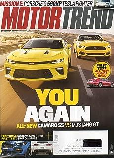 Motor Trend Magazine December 2015 You Again Camaro ss vs Mustang GT