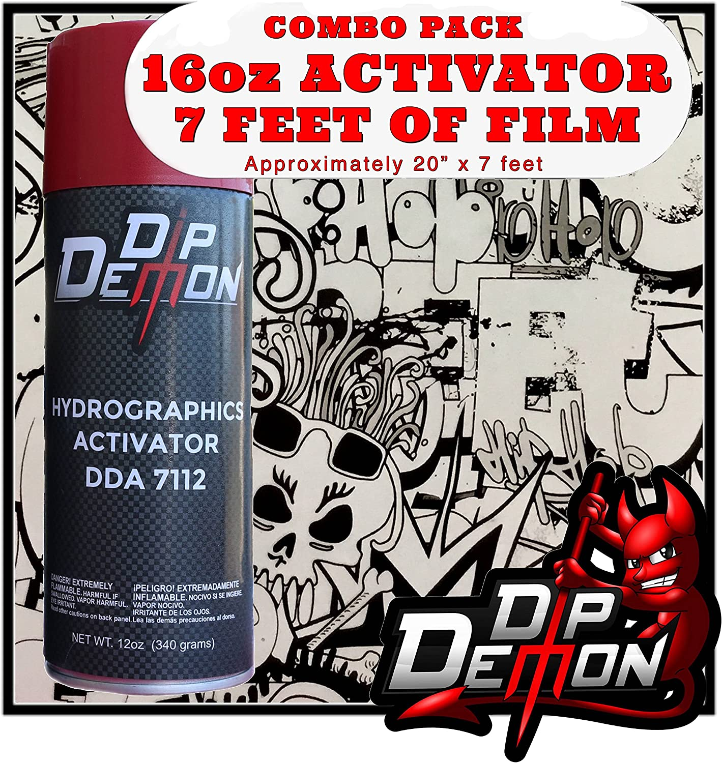 Hydrographic Film Activator Combo Kit Regular store Hydro Clear Black Animer and price revision Graffiti