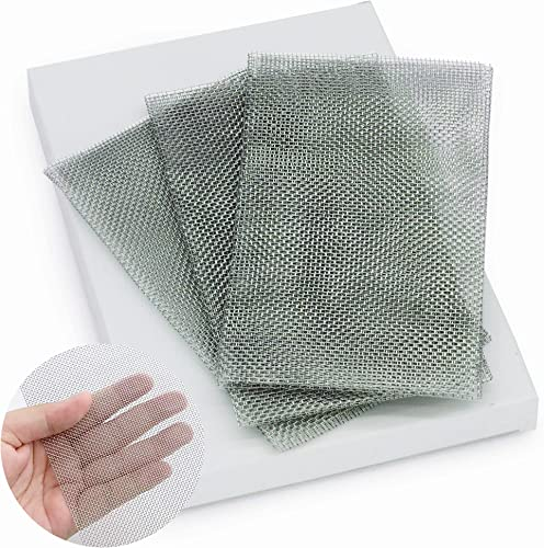 lowest RX WELD 3 Pieces Reinforcing Stainless Steel Mesh for Car new arrival Bumper,Canoe,Kayak Thermoplastic Repairs 8.2 x online 4.7inch- Use with Plastic Welding Kit online